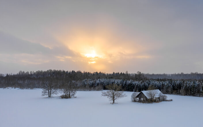Lagunenud küün droonifoto Eesti Drone photography