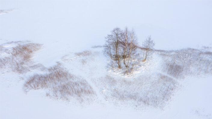 Droonifoto lumisest talvest Drone photography landscapes in Estonia